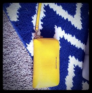 Canary Yellow Michael Kors wristlet